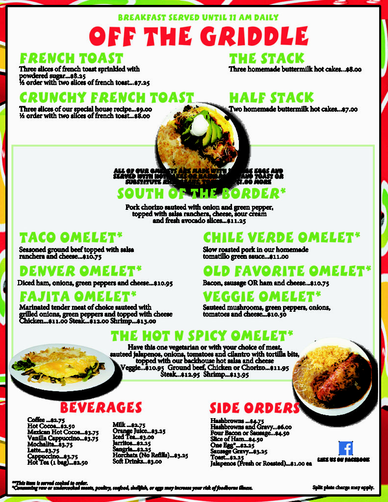 mi cielo breakfast menu 2